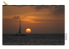 Carry-all Pouch featuring the photograph Sailing Away by David Gleeson