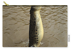 Salt Water Crocodile Carry-all Pouch by Bob Christopher