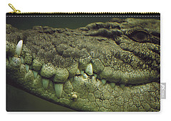 Saltwater Crocodile Teeth Carry-all Pouch by Cyril Ruoso