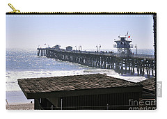 San Clemente Pier California Carry-all Pouch by Clayton Bruster