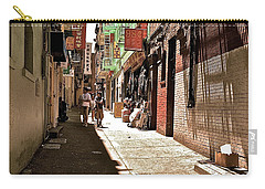 Carry-all Pouch featuring the photograph San Fran Chinatown Alley by Bill Owen