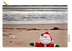 Santa At The Beach Carry-all Pouch