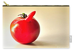Carry-all Pouch featuring the photograph Saucy Tomato by Sean Griffin