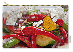 Carry-all Pouch featuring the photograph Sauteed Vegetables With Feta Cheese Art Prints by Valerie Garner