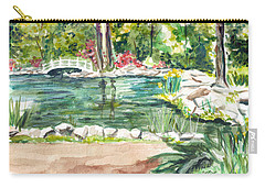 Carry-all Pouch featuring the painting Sayen Pond by Clara Sue Beym