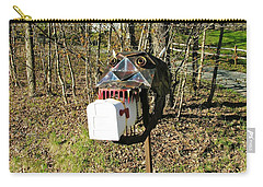 Carry-all Pouch featuring the photograph Scary Mailbox 3 by Sherman Perry