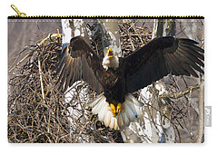 Carry-all Pouch featuring the photograph Screaming Eagle  by Randall Branham