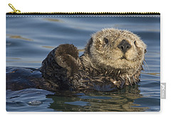 Sea Otter Monterey Bay California Carry-all Pouch by Suzi Eszterhas
