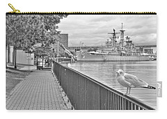 Carry-all Pouch featuring the photograph Seagull At The Naval And Military Park by Michael Frank Jr