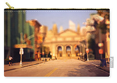 Carry-all Pouch featuring the photograph Seaport Tiltshift by EricaMaxine  Price