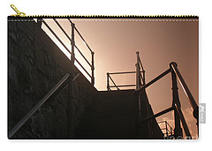 Carry-all Pouch featuring the photograph Seaside Railings by Terri Waters