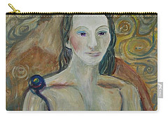 Carry-all Pouch featuring the painting Seduction by Avonelle Kelsey
