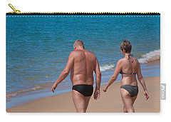 Senior Elderly  Lover Couple Carry-all Pouch by Atiketta Sangasaeng