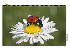 Seven-spotted Ladybird Coccinella Carry-all Pouch by Konrad Wothe