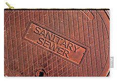 Carry-all Pouch featuring the photograph Sewer Cover by Bill Owen