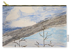 Carry-all Pouch featuring the painting Shades Of Nature by Sonali Gangane