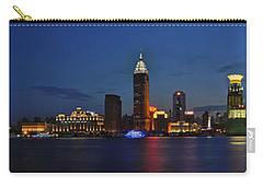 Shanghai Bund Panorama - Night Carry-all Pouch