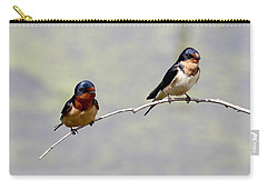 Carry-all Pouch featuring the photograph Sharing A Branch by Elizabeth Winter
