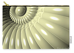 Carry-all Pouch featuring the digital art Shell Of Repetition by Phil Perkins