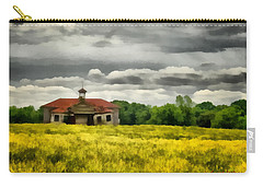 Carry-all Pouch featuring the painting Shiloh School by Lynne Jenkins