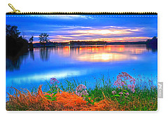 Carry-all Pouch featuring the photograph Shoreline Sundown by Randall Branham