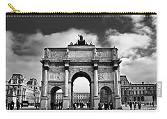 Sightseeing At Louvre Carry-all Pouch by Elena Elisseeva