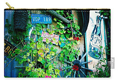 Carry-all Pouch featuring the photograph Sign Wall by Nina Prommer
