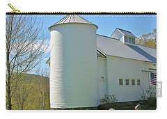 Carry-all Pouch featuring the photograph Vermont Silo And Barn  by Sherman Perry