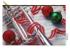 Silver Trumper And Christmas Ornaments Carry-all Pouch by Garry Gay