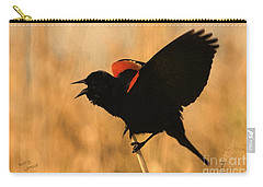 Singing At Sunset Carry-all Pouch by Betty LaRue