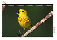 Singing Yellow Warbler Carry-all Pouch