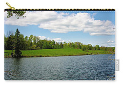 Carry-all Pouch featuring the photograph Sky And Water Almost Meet by Sherman Perry