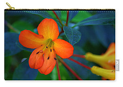 Small Orange Flower Carry-all Pouch by Tikvah's Hope