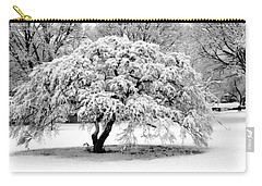 Carry-all Pouch featuring the photograph Snow In Connecticut by John Scates