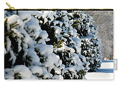 Carry-all Pouch featuring the photograph Snow In The Trees by Mark Dodd