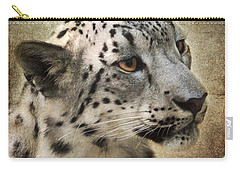 Snow Leopard Portrait Carry-all Pouch by Jai Johnson