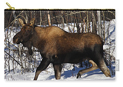 Carry-all Pouch featuring the photograph Snow Moose by Doug Lloyd