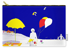 Snowman Family Holiday Carry-all Pouch by Barbara Moignard