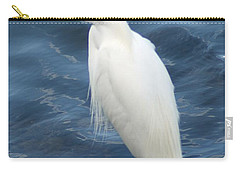 Snowy Egret 1 Carry-all Pouch by Joe Faherty