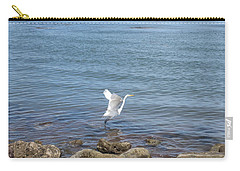 Carry-all Pouch featuring the photograph Snowy Egret by Marilyn Wilson