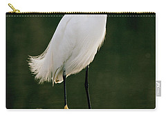 Carry-all Pouch featuring the photograph Snowy Egret Portrait by Doug Herr