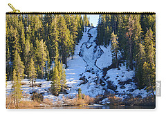 Carry-all Pouch featuring the photograph Snowy Heart Falls by Lynn Bauer