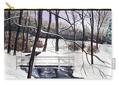 Snowy Shawnee Stream Carry-all Pouch
