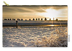 Snowy Sunrise Carry-all Pouch
