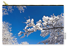 Snowy Trees And Blue Sky Carry-all Pouch