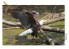 Carry-all Pouch featuring the photograph Soaring Eagle by Elizabeth Winter