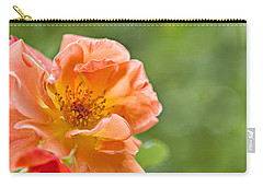 Soft Orange Rose Carry-all Pouch