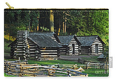 Carry-all Pouch featuring the photograph Soldiers Quarters At Valley Forge by Cindy Manero
