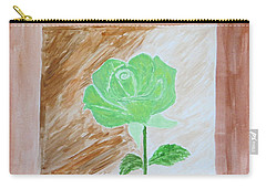 Carry-all Pouch featuring the painting Solitary Rose by Sonali Gangane