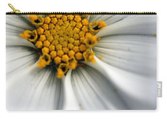 Carry-all Pouch featuring the photograph Sonata Cosmos White by Henrik Lehnerer